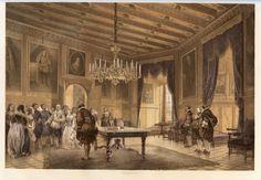 Audience scene with Gustav II Adolf and Maria Eleonora