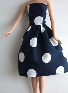 Another use for fabric scraps: How to make Barbie clothes.