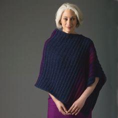 Lion's Pride® Woolspun® Crochet Poncho (Level 2)