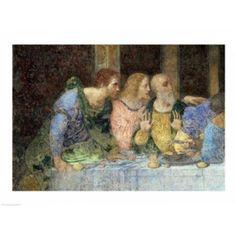 The Last Supper (post restoration) Canvas Art - Leonardo Da Vinci (24 x 18)