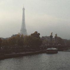 A foggy Paris morning.