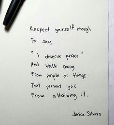 I deserve peace