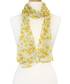 Yellow Floral Sweet Scarf