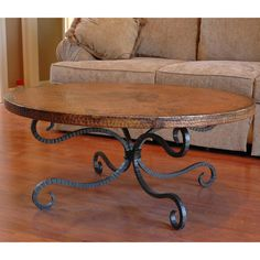 Alexander Copper Coffee Table by Mathews & Company