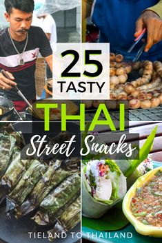 Exploring Thailand wouldn't be complete without grazing on Thai street snacks from the country's ubiquitous street stalls. But for some people this can be overwhelming, so here's a finger food guide for treats that are less than a dollar and can be nibbled on while you're walking around.   Tieland to Thailand