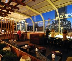 Top of the Strand glass-enclosed year round rooftop lounge in NYC