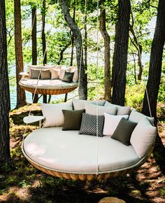 """Hanging chair - with frame and without- Hängesessel – mit Gestell und ohne Hanging Chair """"Swingest"""" by Dedon # Hanging chair - Outdoor Furniture Stores, Modern Outdoor Furniture, Cool Furniture, Rustic Furniture, Antique Furniture, Tree Furniture, Furniture Ideas, Outdoor Lounge, Outdoor Living"""