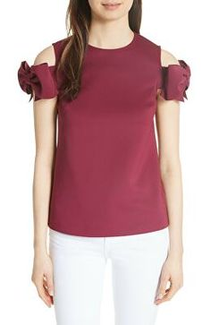 c6449c10612f Ted Baker Sz 0 US Sz 2 Mendoll Bow Sleeve Top Ted Baker Women s Size ...