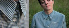 Lis Hartel Blue and Yellow Check Shirt. 100% cotton.