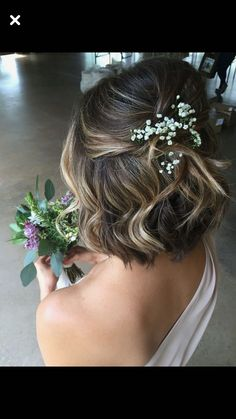 Obviously it would be much curlier but this idea with a pretty comb would be nice