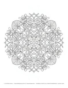 Mandalas Adult Coloring Pages Set of 10 by emerlyearts on Etsy, $20.00