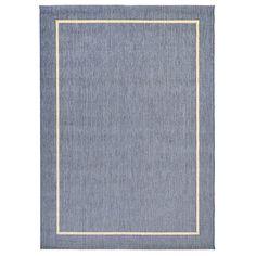 Blue Flatweaved Rug - 5x8