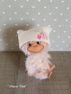 Teddy Bear style Artist mohair OOAK Baby Duck handmade collectible toy by IntDolls on Etsy