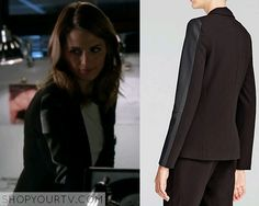 Castle: Season 7 Episode 7 Beckett's Leather Sleeve Blazer