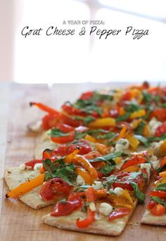 Goat Cheese and Pepper Pizza!