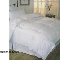 FULL QUEEN Microfiber Comforter WHITE Down Alternative ALL Season Bed Blanket