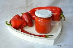 Erős Pista or Édes Anna Pasta, Preserves, Stuffed Peppers, Canning, Vegetables, Recipes, Pork, Red Peppers, Recipies