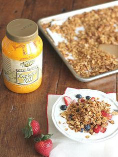 Homemade Granola (with Butter Flavored Coconut Oil)