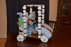 Let's go golfing! Newly created diaper cake creation.  This has Alex written all over it.