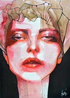 "Saatchi Art Artist Anna Matykiewicz; Painting, ""Statue"" #art"