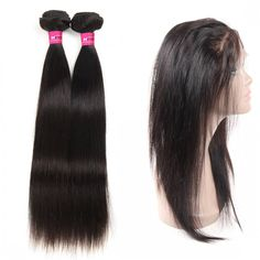 Malaysian Hair Extensions 360 Lace Frontal Sew In With 2 Bundles Malaysian Straight Hair Wholesale Straight Hair Human Hair Extensions Remy Hair Weft Products #hairextensions #malaysianhair
