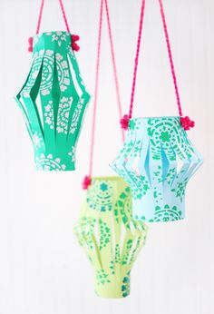 Hang happiness around your house with cheerful Chinese lanterns!