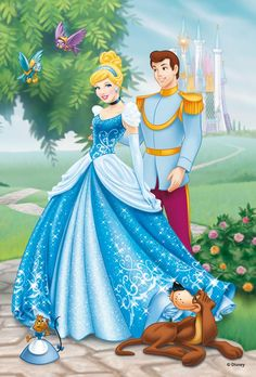 Disney Princess Photo: Cinderella and Prince Charming Disney Pixar, Disney Cartoons, Disney Characters, Tiana Disney, Disney Wiki, Fictional Characters, Disney Couples, Disney Love, Disney Magic