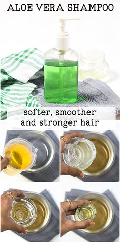 Products containing natural ingredients are getting very popular these days from skin care, hair care to makeup. When it comes to hair care, natural shampoos are all over the market but not to forget, Aloe Vera Hair Growth, Aloe Vera Skin Care, Aloe Vera Face Mask, Aloe Vera For Hair, Hair Growth Tips, Aloe Vera Gel, Aloe Hair, Diy Shampoo, Homemade Shampoo