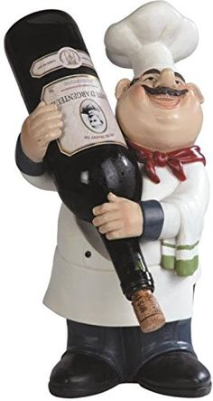 George S Chen Imports SSG65009 Chef Holding a Wine Bottle Figurine 1425 ** Be sure to check out this awesome product. (This is an affiliate link) #CollectibleFigurines