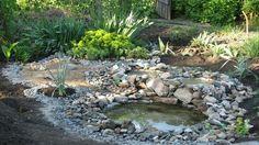 DIY neumáticos reciclados Pond