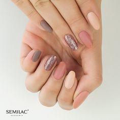Próbáld ki te is a Semilac professzionális termékeit már Magyarországon is ! www.semilac.hu A tökéletes nude körmök! Nail Inspo, Polish, Pretty, Beauty, Fall Nails, Pastels, Photos, Flower, Instagram