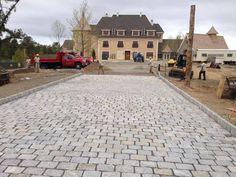 Cobblestone Driveway Installation