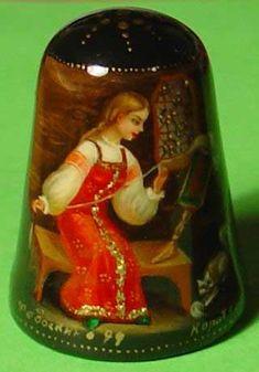 Palehskya miniature - Russian thimble
