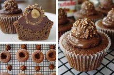 Delicious Nutella Ferrero Rocher cupcakes for the chocolate lovers #diy #food #recipe
