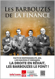 Affiche : Les barbouzes de la finance - Info'Com-CGT