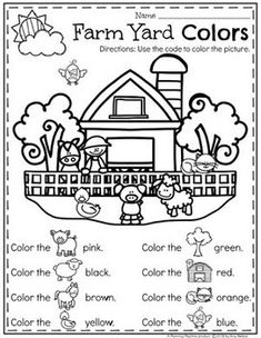 Teacher Discover Preschool Farm Theme - Planning Playtime Farm Coloring Page for a Preschool Farm Unit Farm Activities, English Activities, Educational Activities, Comprehension Activities, Farm Animals Preschool, Preschool Worksheets, Preschool Farm Theme, Farm Theme Classroom, Preschool Birthday