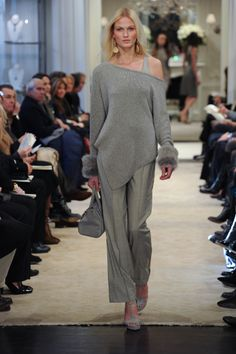 Soft tonal colors from Ralph Lauren Collection Pre-Fall 2014 Grey Fashion,  Womens Fashion 7cd4c08c656a