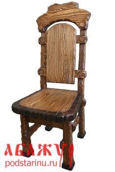 Авторский стул от торговой марки Абажур с передуманным ими эффектом коры