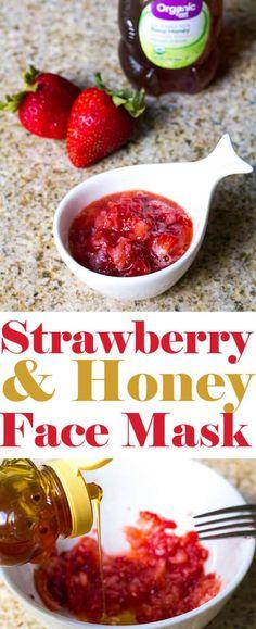 Homemade Strawberry and Honey Face Mask | homemadeforelle.com