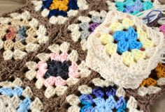 Scrapghan Crochet Along AND she has the Join as you Go Method (JAYGO) on her blog..right here: http://www.petalstopicots.com/2014/05/joining-granny-squares-join-go-jaygo-method/ And the edging pattern is here:  http://www.petalstopicots.com/2014/05/granny-square-afghan-crochet-edging-pattern-finishing-scrapghan/