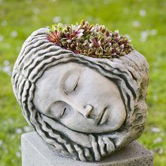 Campania International, Inc Sleeping Maiden Cast Stone Statue Planter Color: Ferro Rustico Nuovo