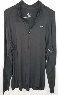 Nike Dri-Fit Mens Jogging Nylon Spandex Long Sleeve 1/4 Zip Pullover Shirt XXL #Nike #14ZipPullover