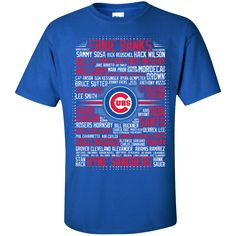 Chicago Cubs - Baseball. Product Description We use high quality and Eco-friendly material and Inks! We promise that our Prints will not Fade, Crack or Peel in the wash.The Ink will last As Long As the Garment. We do not use cheap quality Shirts like other Sellers, our Shirts are of high Quality and super Soft, perfect fit for summer or winter dress.Orders are printed and shipped between 3-5 days.We use USPS/UPS to ship the order.You can expect your package to arrive...