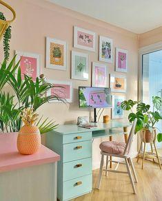 Bedroom Layouts, Room Ideas Bedroom, Bedroom Decor, Pastel Room, Pretty Room, Aesthetic Room Decor, Dream Rooms, New Room, House Colors
