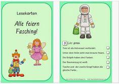 Reif für die Ferien, Fasching, Karneval, Fastnacht, Material für die Grundschule, Arbeitsblätter, kostenloses Unterrichtsmaterial Fasching, Grundschule