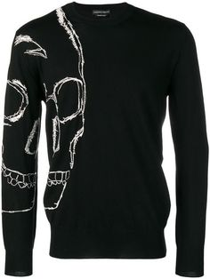 4231fe2f3e5 ALEXANDER MCQUEEN skull crew neck jumper Mens Fashion Sweaters