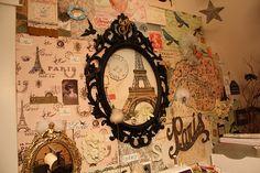 paris, espelho, quarto, bedroom