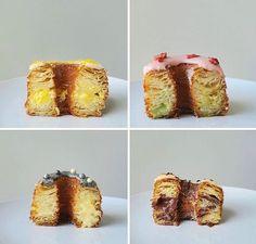 Cronut Copycats | Asian Baker Girl Milk Bread Recipe, Bread Recipe Video, Ganache Recipe, Icing Recipe, Pineapple Bun, Homemade Croissants, Salted Egg Yolk, Candied Orange Peel, Salads
