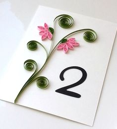 Wedding Table Number Cards - Custom order available on Etsy, $9.36