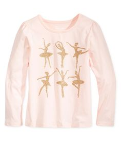 Epic Threads Little Girls' Mix and Match Ballerina Graphic-Print T-Shirt, Only at Macy's